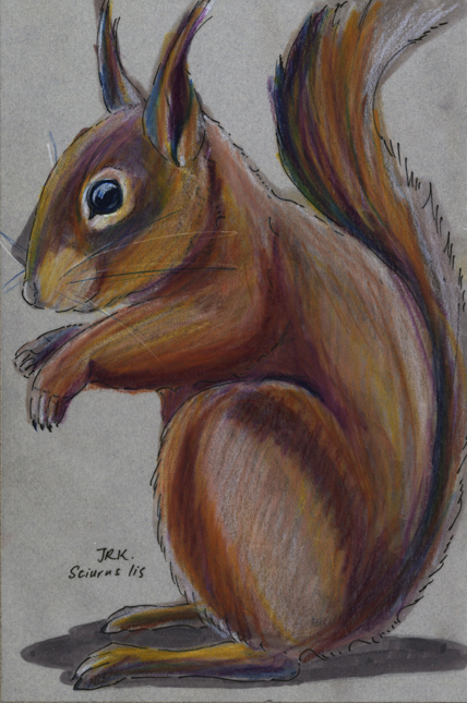 Japanese squirrel by Jennifer Kinyak